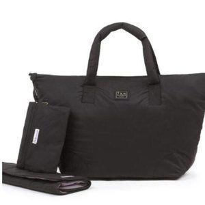 7am Voyage Roma Bag Diaper Bag, Jumbo Black, NWT